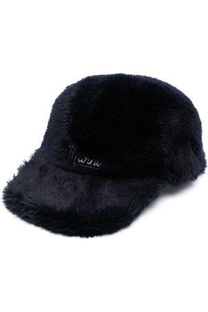 Marni Logo-print furry baseball cap