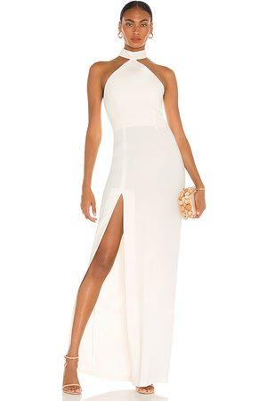 Amanda Uprichard Queen Gown in Ivory.