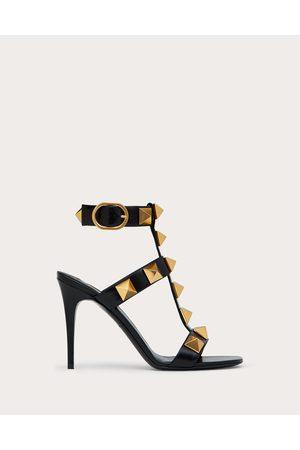 VALENTINO GARAVANI Women Heeled Sandals - Roman Stud Calfskin Sandal 100 Mm Women 100% Pelle Di Vitello - Bos Taurus 35