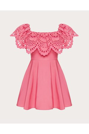 VALENTINO Women Dresses - Short Dress In San Gallo Edition Micro Faille Women Watermelon Polyester 46%, Cotton 54% 36