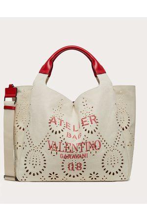 VALENTINO GARAVANI Women Tote Bags - Large 08 San Gallo Edition Atelier Tote Bag In Canvas Women Natural Linen 37%, Cotton 63% OneSize