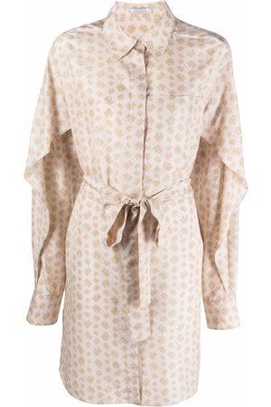 Nina Ricci Women Casual Dresses - Tie-fastening shirt dress - Neutrals