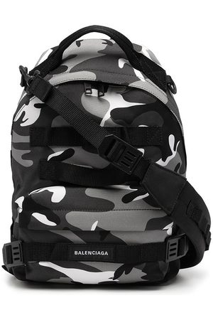 Balenciaga Men Rucksacks - Camouflage-print logo backpack