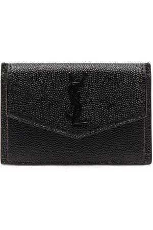 Saint Laurent Textured-leather clutch