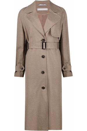 12 STOREEZ Women Trench Coats - Belted button-up trench coat - Neutrals