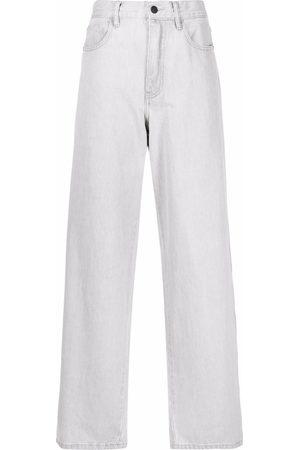 12 STOREEZ Women High Waisted - High-waisted wide leg jeans - Grey