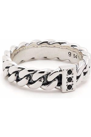 Tom Wood Chain Slim Spinel sterling ring