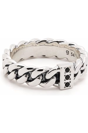 TOM WOOD Rings - Chain Slim Spinel sterling ring