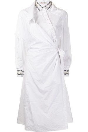 PORTS 1961 Asymmetric-shirt wrap dress