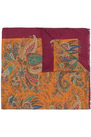 Etro Men Scarves - Paisley-print silk-cashmere scarf
