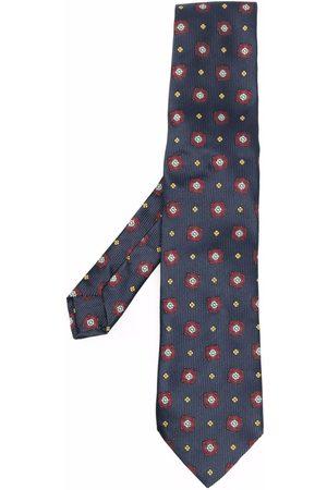 Etro Floral-embroidered silk tie