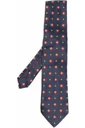 Etro Men Bow Ties - Floral-embroidered silk tie