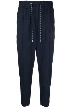 Michael Kors Men Straight Leg Pants - Drawstring straight-leg trousers