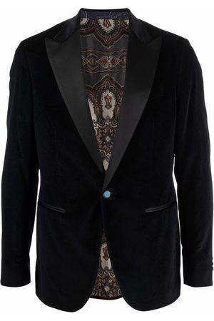 Etro Men Blazers - Patterned velvet blazer