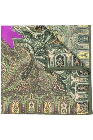 Etro Men Bow Ties - Paisley-print silk pocket square