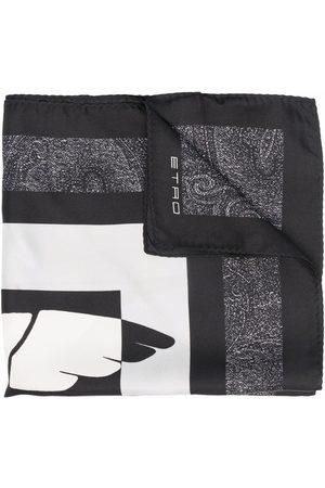 Etro Pegaso silk pocket square