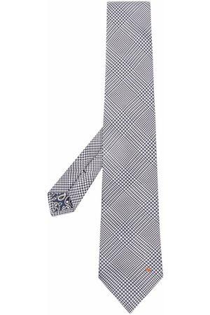 Etro Men Bow Ties - Woven-check silk tie