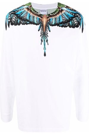 MARCELO BURLON Men Long Sleeve - Wings print long-sleeve top