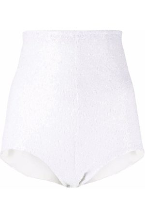 Alchemy Women Shorts - Sequin-embellished high-waisted shorts