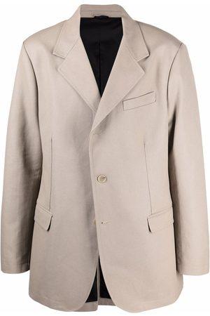 RAF SIMONS Men Blazers - Single-breasted tailored blazer - Neutrals