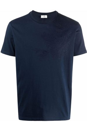 Etro Leaf-embroidered T-shirt