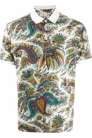 Etro Men Polo Shirts - Paisley print polo shirt