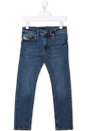 Diesel Kids Boys Straight - Straight-leg cotton jeans