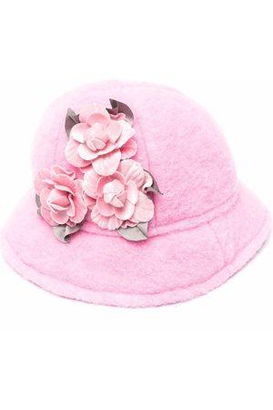 MONNALISA Floral-embellished felt hat