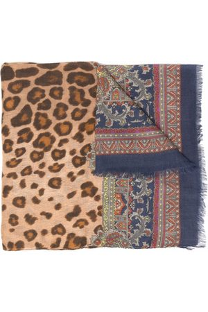 Etro Men Scarves - Leopard-print scarf