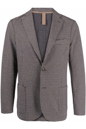 Eleventy Herringbone-patterned button-front blazer