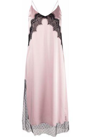 RED Valentino Lace-insert slip dress
