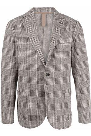Eleventy Herringbone check single-breasted blazer