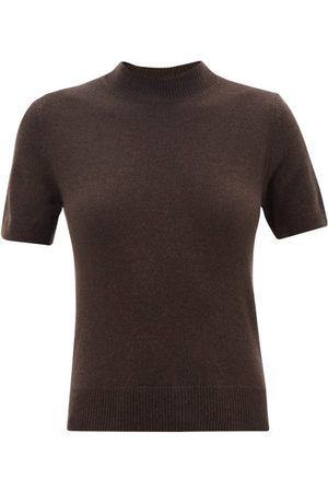 The Row Carbo Short-sleeved Cashmere Sweater - Womens - Dark