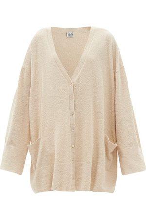 Totême V-neck Organic Cotton-blend Terry Cardigan - Womens