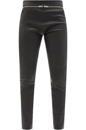 Givenchy Zipped High-rise Leather Slim-leg Trousers - Womens