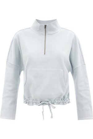 The Upside Ezi Tiena Drawstring Cotton-blend Sweatshirt - Womens - Light