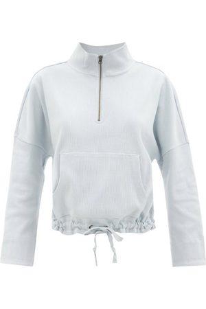 The Upside Women Sweatshirts - Ezi Tiena Drawstring Cotton-blend Sweatshirt - Womens - Light