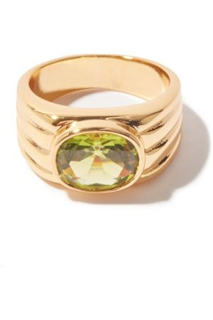Timeless Pearly Ribbed Crystal & 24kt -plated Ring - Womens - Multi