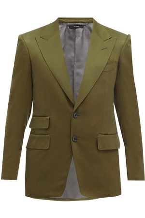 Tom Ford Shelton Silk-twill Suit Jacket - Mens - Khaki