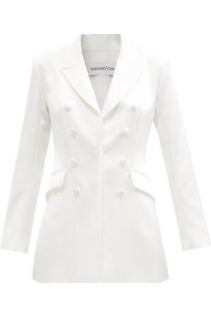 16Arlington Kiku Peak-lapel Satin Suit Jacket - Womens - Ivory