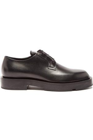 Givenchy Men Formal Shoes - Logo-plaque Leather Derby Shoes - Mens