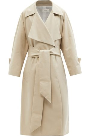 The Row Au Cotton-canvas Trench Coat - Womens - Light