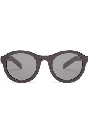 Prada Round Acetate Sunglasses - Womens