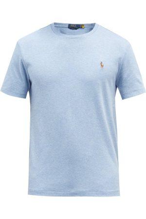 Polo Ralph Lauren Logo-embroidered Cotton-jersey T-shirt - Mens - Light