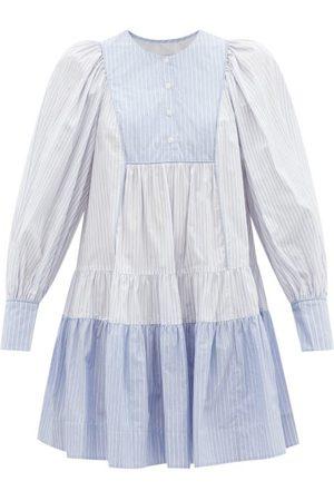 Lee Mathews Diana Pinstriped Cotton-poplin Mini Dress - Womens