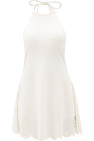 Marysia Sport Women Party Dresses - Bianca Scalloped-edge Halterneck Mini Dress - Womens