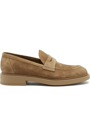 Gianvito Rossi Harris Suede Loafers - Mens - Tan