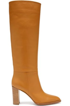 Gianvito Rossi Women Thigh High Boots - Kerolyn 85 Leather Knee-high Boots - Womens - Tan