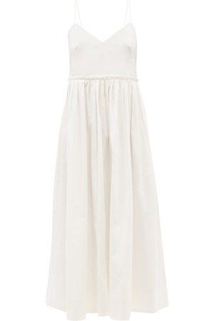 Three Graces London Aspen V-neck Cotton Midi Dress - Womens