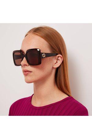 Gucci Women's GG Square Frame Acetate Sunglasses